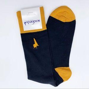 Soxfords Black and Tans Knee High Dress Socks